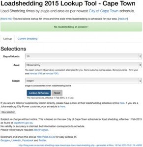 Load Shedding Cape Town - screenshot