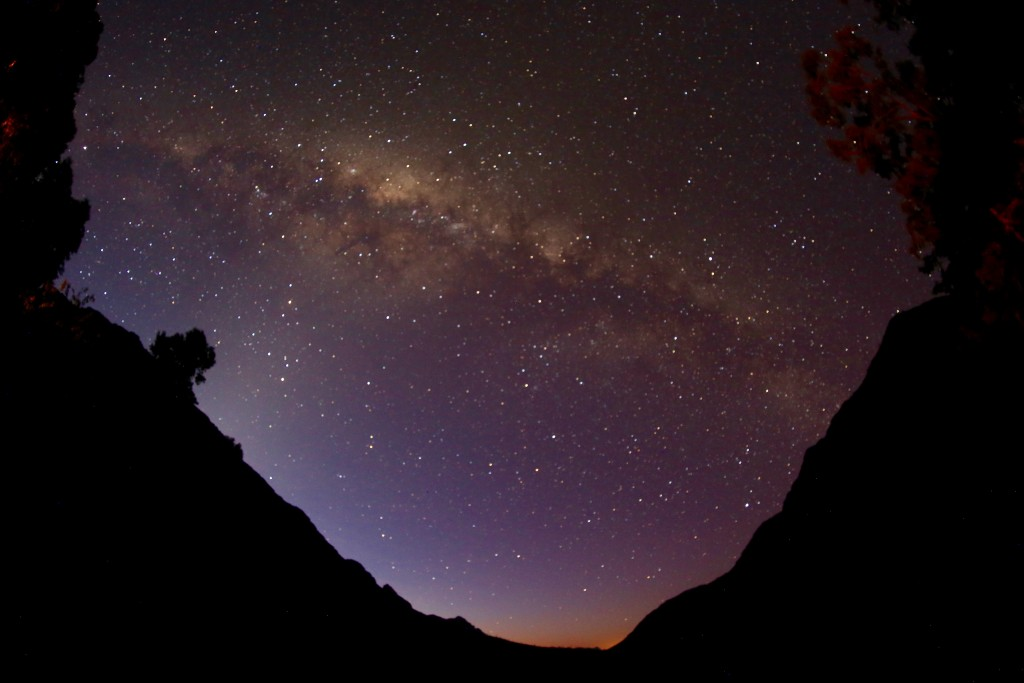Night sky over Algeria